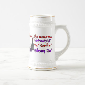 When Life Gives You Grapes Beer Stein
