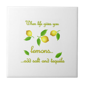 When life gives you lemons ceramic tile