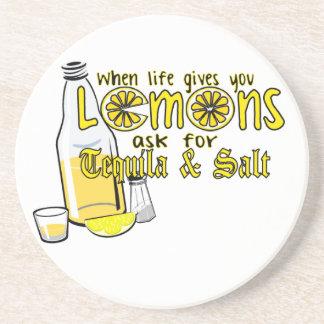when life gives you lemons coasters