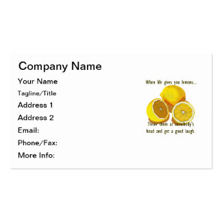 When Life Gives You Lemons Dark Humor Business Card Templates