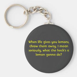 When life gives you lemons, key ring