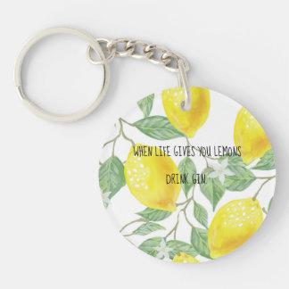 when life gives you lemons key ring