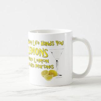When Life Gives You Lemons Make Lemon Vodka Martin Basic White Mug