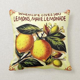 when life gives you lemons make lemonade cushion