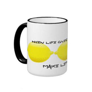 When life gives you Lemons...make Lemonade! Ringer Mug