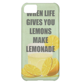 When life gives you lemons, make lemonade quotes iPhone 5C case