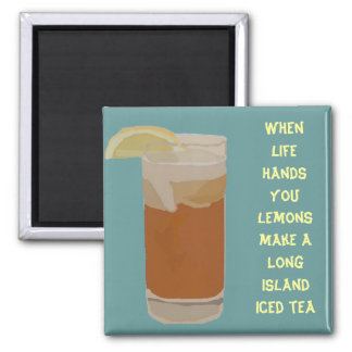 When life hands you lemons.... square magnet