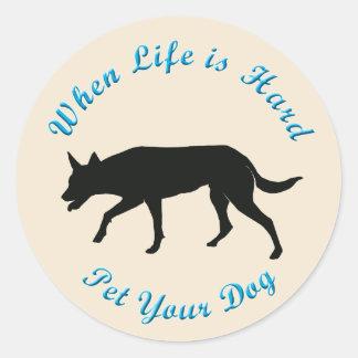 When Life Is Hard (Australian Kelpie) Stickers