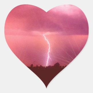 WHEN LIGHTNING STRIKES HEART STICKER