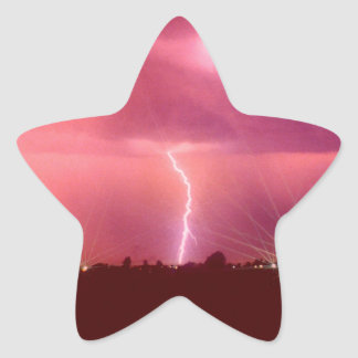 WHEN LIGHTNING STRIKES STAR STICKER