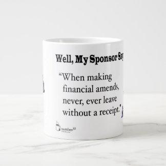 When making financial amends... large coffee mug