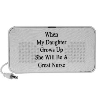 When My Daughter Grows Up She Will Be A Great Nurs Travel Speaker