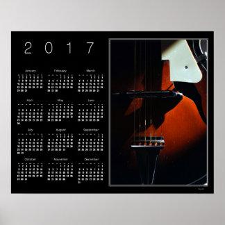 When My Guitar Gently Sleeps Calendar Poster 2017