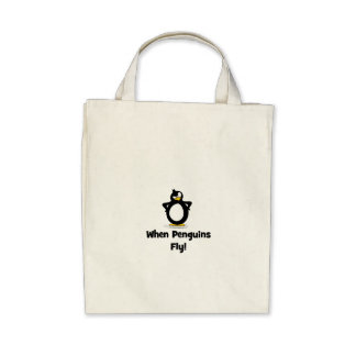 When Penguins Fly! Tote Bag