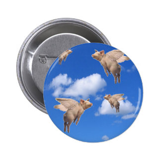 When Pigs Fly 6 Cm Round Badge