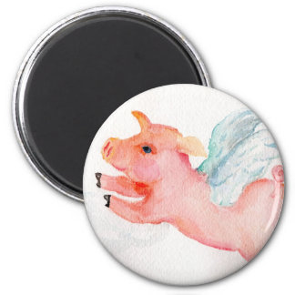 When Pigs Fly 6 Cm Round Magnet