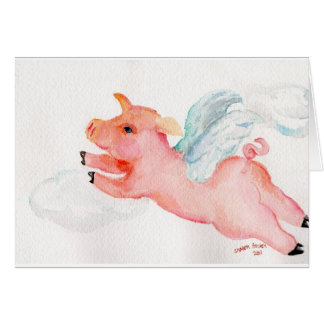 When Pigs Fly Greeting Cards