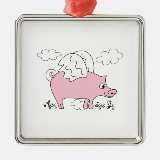 When Pigs fly Christmas Tree Ornament