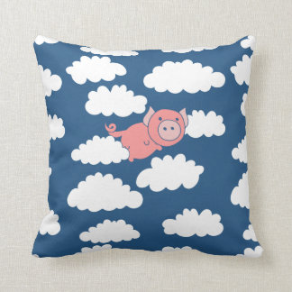 When pigs fly flying pig throw pillow