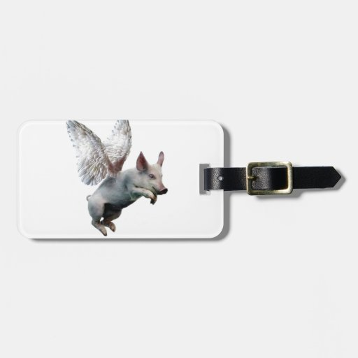 When Pigs Fly Travel Bag Tag