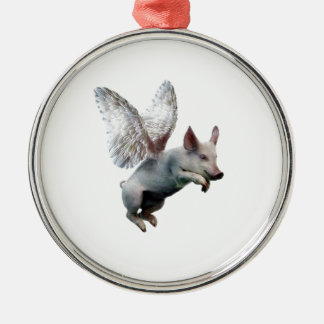 When Pigs Fly Silver-Colored Round Decoration