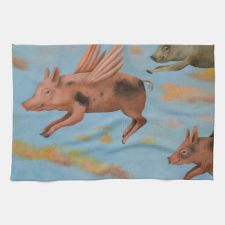 When Pigs Fly Tea Towel