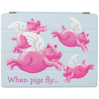 When pigs fly...winged pink porkers iPad cover