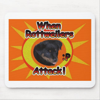 When Rottweilers Attack :p Mouse Pad
