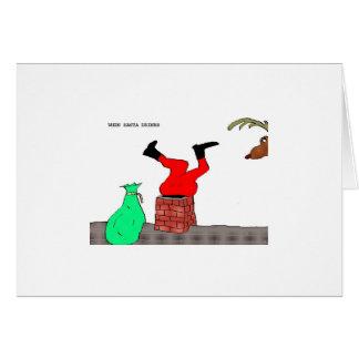 "When Santa Drinks (""Chimney"") Card"