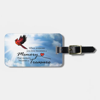 When someone you love, Cardinal Luggage Tag