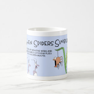 When spiders simplify coffee mug