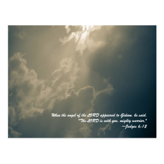 When the angel of the LORD appeared to Gideon, he Postcard