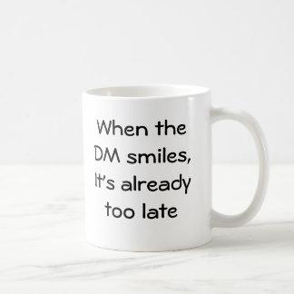 When the DM smiles Basic White Mug