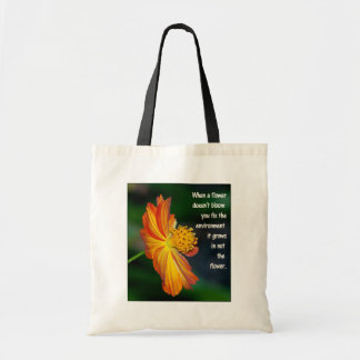 When the flower doesn't bloom... tote bag