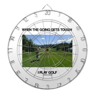 When The Going Gets Tough I Play Golf (Golfer) Dartboards