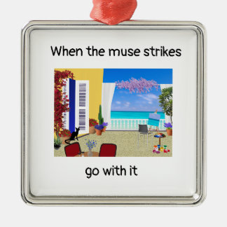 """""""When the muse strikes"""" Christmas ornament"""