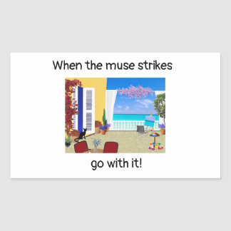 """""""When the muse strikes"""" stickers"""