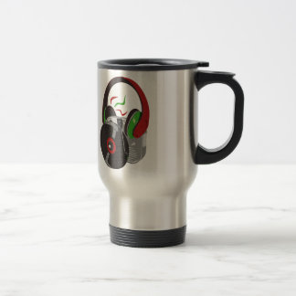 When the music is good stainless steel travel mug