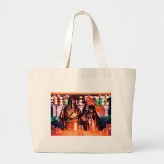 When Warriors Turn To Lovers Large Tote Bag