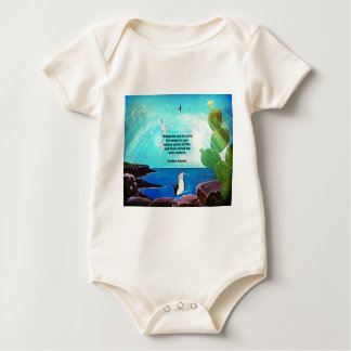 When We Are In Love Inspirational Quote Baby Bodysuit