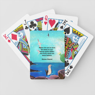 When We Are In Love Inspirational Quote Bicycle Playing Cards