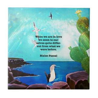 When We Are In Love Inspirational Quote Ceramic Tile
