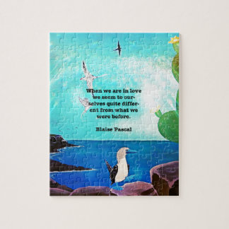 When We Are In Love Inspirational Quote Jigsaw Puzzle