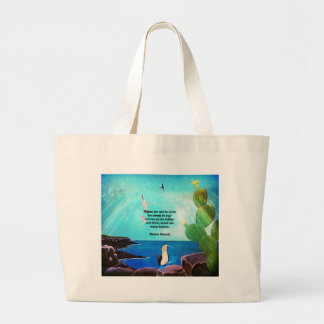 When We Are In Love Inspirational Quote Large Tote Bag