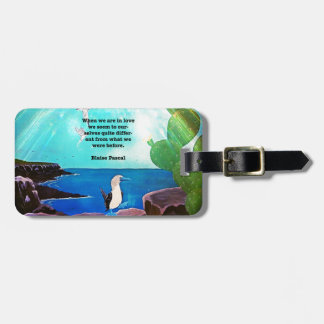 When We Are In Love Inspirational Quote Luggage Tag