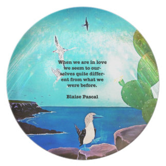 When We Are In Love Inspirational Quote Plate