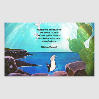 When We Are In Love Inspirational Quote Rectangular Sticker