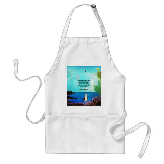 When We Are In Love Inspirational Quote Standard Apron