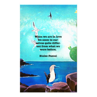 When We Are In Love Inspirational Quote Stationery