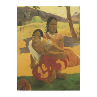 When Will You Marry by Gauguin Vintage Fine Art Wood Print